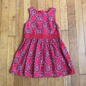 Nautica Red geometric print dress